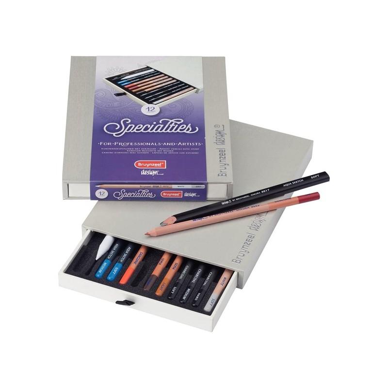 Caja de Lápices Bruynzeel Design, Especialties