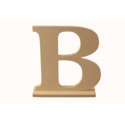 Letra B de madera con peana