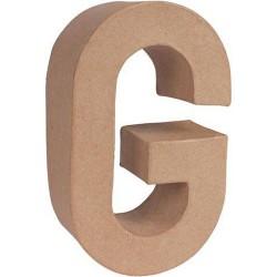 Letra G Papel Maché