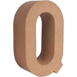 Letra Q Papel Maché