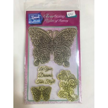 Sello de silicona mariposas, Sweet Dixie