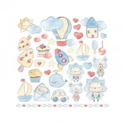 Recortables de la Colección Sweet Baby Boy, Fabrika Decoru, Portada recortable