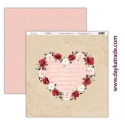 """Papel """"Corazón de flores"""" de la Colección """"Love Makes Fly"""", Dayka"""