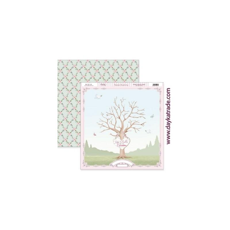 """Papel """"Árbol de huellas"""", Colección """"Mi Primera Comunión"""", Dayka 2021"""