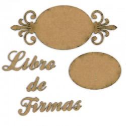 """Set de letreros """"Libro Firmas"""""""