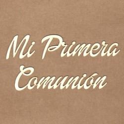 """Letrero """"Mi primera comunión"""""""