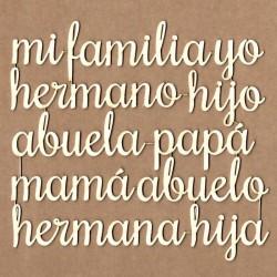 "Letreros de ""Familia"""