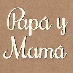 "Letrero ""Papá y Mamá"""