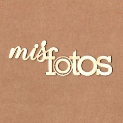 """Letrero """"Mis fotos"""""""