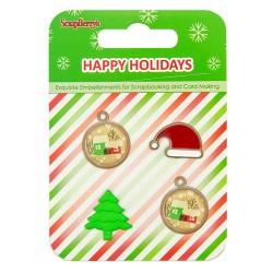 Set brads de navidad Happy holidays