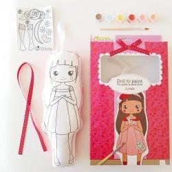 Cojín de muñeca para pintar, Lina