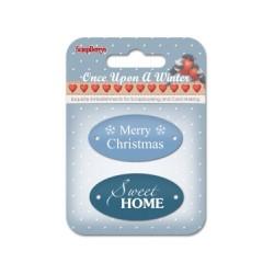 Set de embellecedores de metal Navidad, sweet home