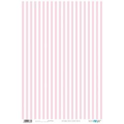Papel de cartonaje basics rayas blanco/rositas