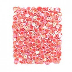 Lentejuelas en color Coral de 9 MM, 15 G