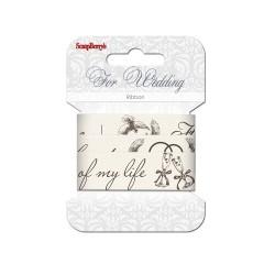 Cinta de algodón estampada boda