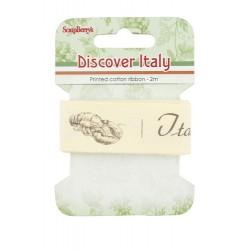 Cinta de algodón estampada Italy, menú italiano