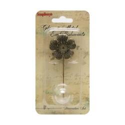 Broche de flor para decoración de cristal