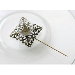 Broche para decoración de cristal