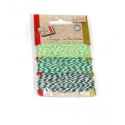 Set de cuerda algodón verde