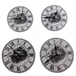 Pegatina forma de reloj