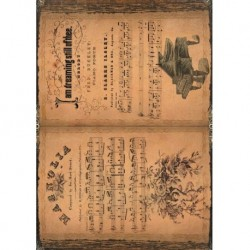 Papel de arroz partituras para piano