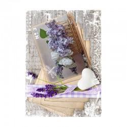Papel de arroz cesta lilas y lavanda