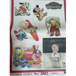 Papel de arroz vintage children niño