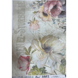 Papel de arroz Senez-Sturbelle flores