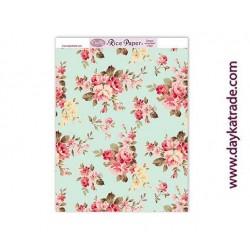 Papel de arroz fondo floral