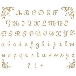 Plantilla de Stencil Alfabeto