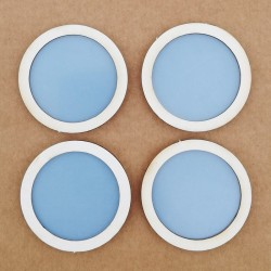 Shaker. Pack 4 círculos 5 cm