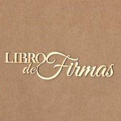 """Letrero """"Libro de firmas """""""