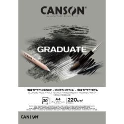 Bloc Multitécnicas Canson Graduate, Hoja Gris