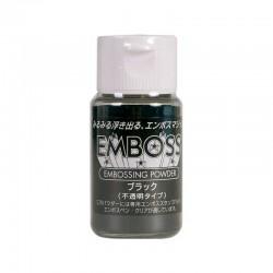 "Embossing powder ""Negro"", polvo para embossing Opaco"