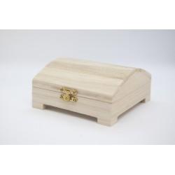 Caja tipo cofre con patitas 12x12x6 cm