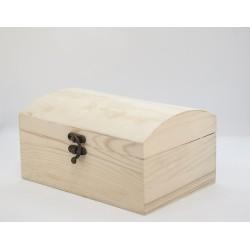 Caja tipo Cofre de tapa redondeada