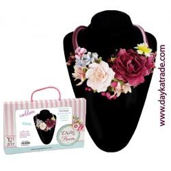 Kit collar gargantilla floral
