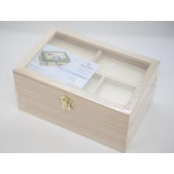 Costurero rectangular de madera