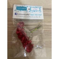 Flores rosas rojas papel