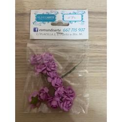 Flores rosas lilas papel