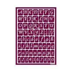 Plantilla de Stencil Ácido Alfabeto, 15x20 cm