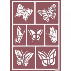 Plantilla de Stencil Ácido Mariposas, 15x20 cm
