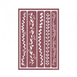 Plantilla de Stencil Ácido Grecas, 15x20 cm