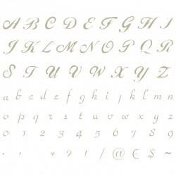 Plantilla Stencils Abecedario letra inglesa