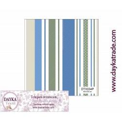 Tela para Decoración Rayas, pieza de 1mx50cm, Dayka Textil